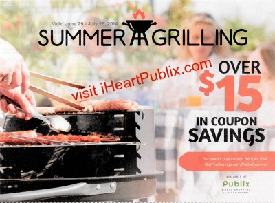 summer grilling public booklet Summer Grilling   New Publix Booklet Available As Insert + Printable Coupons