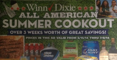 wd flyer Winn Dixie Coupons   All American Summer Cookout Booklet