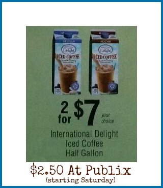 ID Nice Price On International Delight Iced Coffee At Publix Starting Saturday