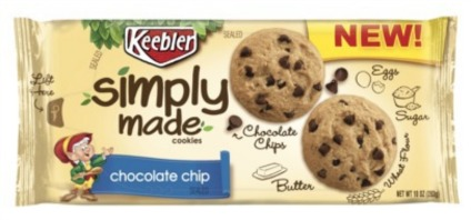 Keebler® Simply Made™ Peanut Butter Chocolate Chip Cookies New Keebler Coupon   Print Now & Hold