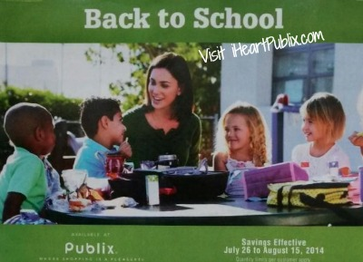 back to school Publix Grocery Advantage Buy Flyer Back To School 7/26   8/15