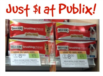 brushing chews New Publix Paws Coupons   $1 Milk Bone Brushing Chews!