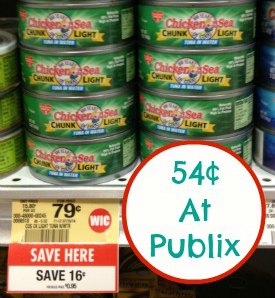 chicken of the sea 2 Tuna Coupons   StarKist & Chicken Of The Sea = Nice Deals At Publix