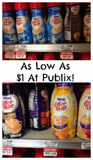 coffee New Coffee Mate Coupon   As Low As $1 At Publix