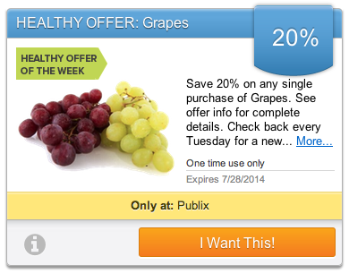 grapes Upromise Healthy Offer   Save 20% On Grapes