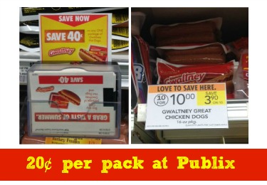 gwaltney Gwaltney Hot Dogs As Low As 20¢ At Publix!
