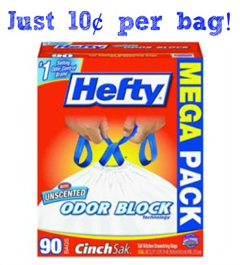 hefty New Hefty Trash Bags Coupon   10¢ Per Bag At Publix!