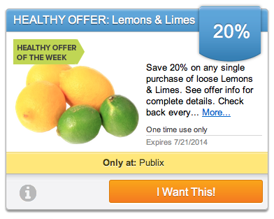 lemons limes Produce Coupon   Save 20% On Lemons And Limes At Publix