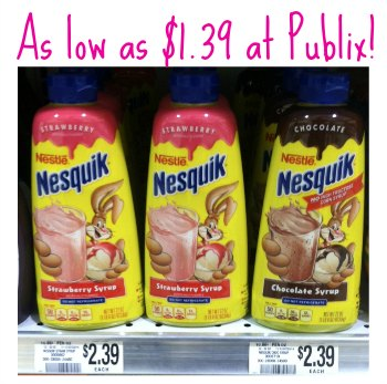 nesquik publix Nesquik Deal At Publix   Syrup As Low As $1.39