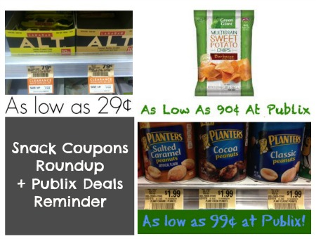 snacks Snack Coupon Roundup And Publix Deals Reminder