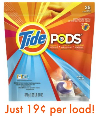 tide 19 Tide Pods Just 19¢ Per Load At Publix!