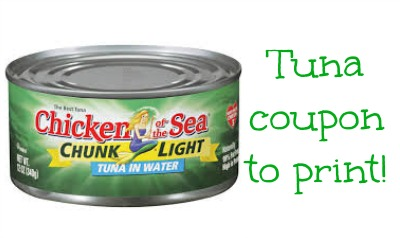 tuna coupon Chicken Of The Sea Tuna Coupon Available To Print