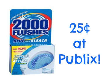2000 Flushes Automatic Toilet Bowl Cleaner 2000 Flushes Just 25¢ At Publix (Upcoming Sale   Grab Your Coupons!)