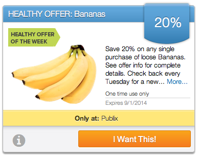 bananas Upromise Healthy Offer Week Of 8/26   Save On Bananas
