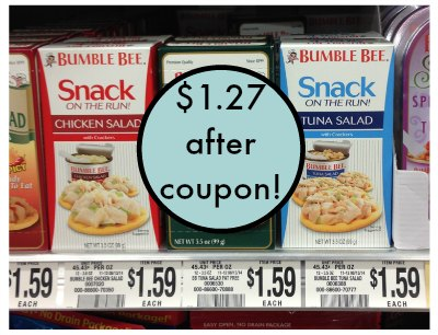 bumble bee publix1 Bumble Bee Snack On The Run Coupon & Deal