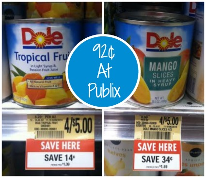 dole Cheap Dole Fruit At Publix   As Low as 92¢