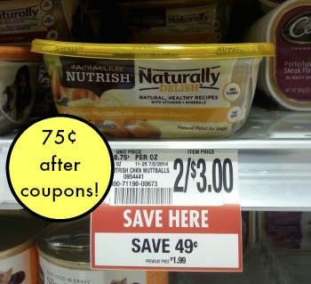 nutrish publix Rachael Ray Naturally Delish Tubs Just 75¢ At Publix