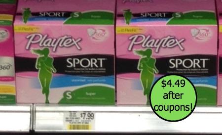 playtex publix Big $3 Playtex Tampons Coupon + Matching Target Coupon!