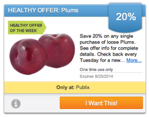 publix plums 300x236 Upromise Healthy Offer: Save on Plums This Week At Publix