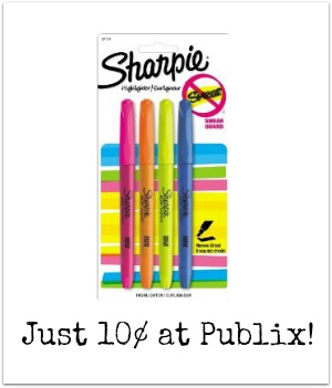 sharpie publix Sharpie Accent Highlighters Just 10¢ Per Pack At Publix