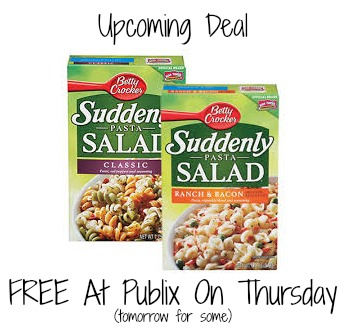 suddenly Reminder   Suddenly Salad As Low As FREE With New Publix Ad