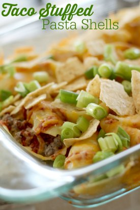 tacostuffedpastashells 2 Taco Stuffed Pasta Shells Recipe