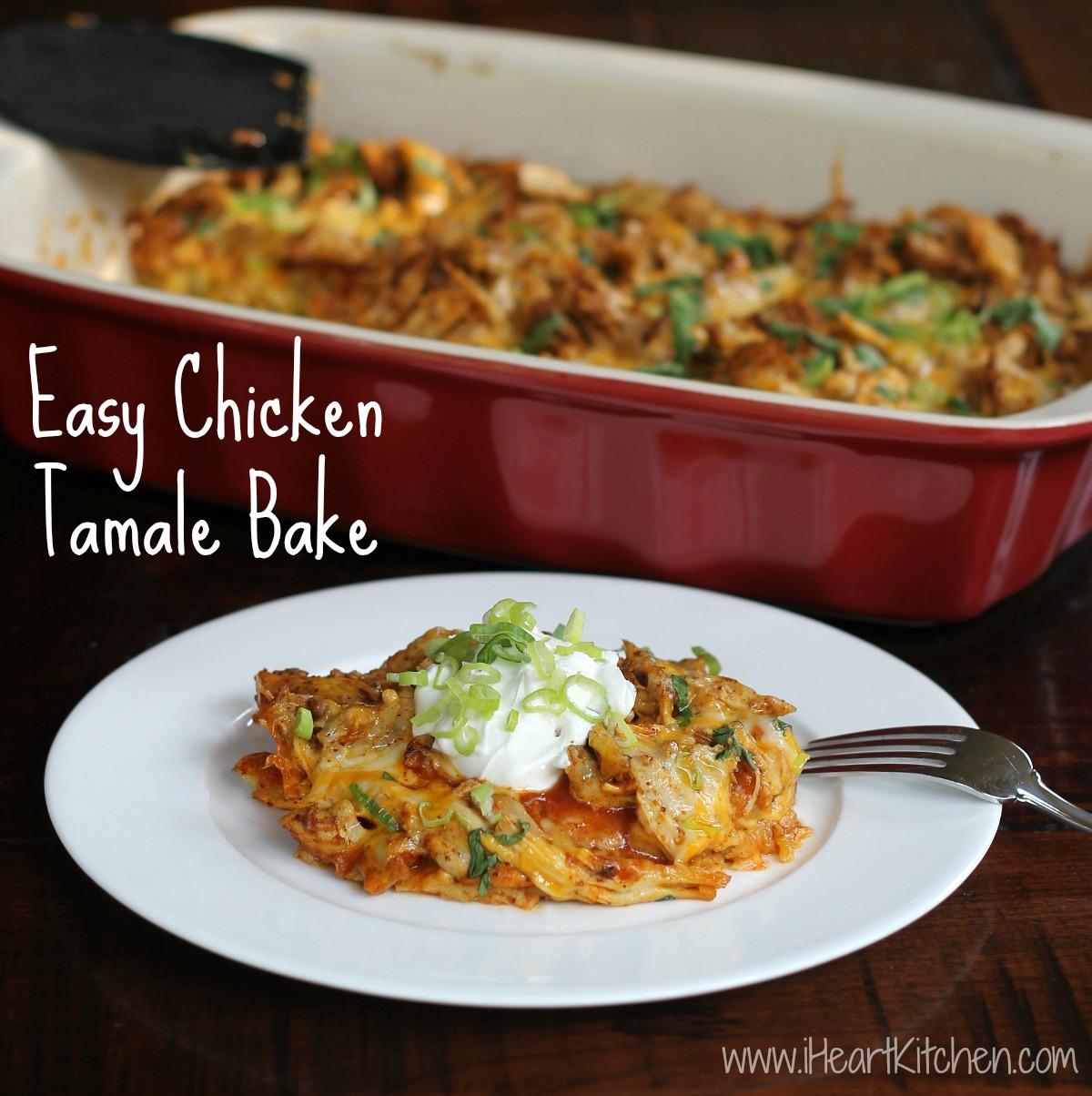 Easy Chicken Tamale Bake -