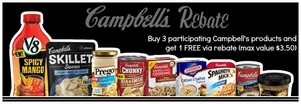 Campbell's Rebate Offer - Buy 3 Get 1 Free