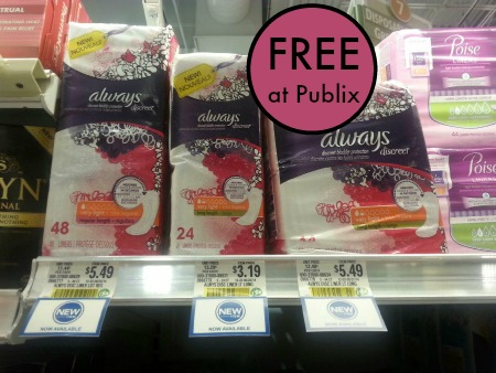 discrete always publixNew Always Discreet Coupons to Print For Publix Sale