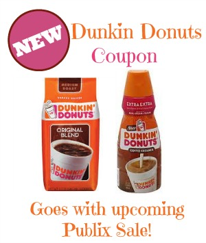 New Dunkin Donuts coupon to print