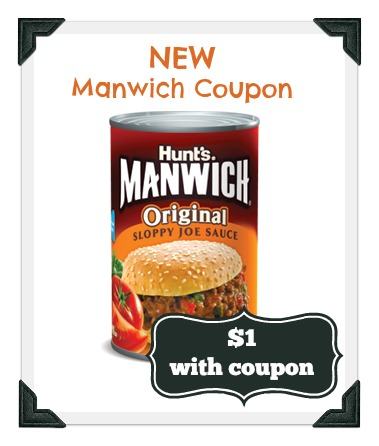 New Manwich Coupon to go with Publix sale