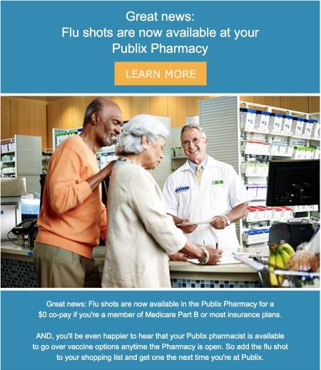 Get Your Flu Shot At Publix