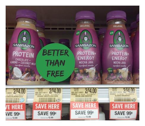Better than free Sambazon juice deal at Publix