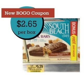 South Beach Diet Bars BOGO Coupon and Publix Deal - $2.65 Per Box