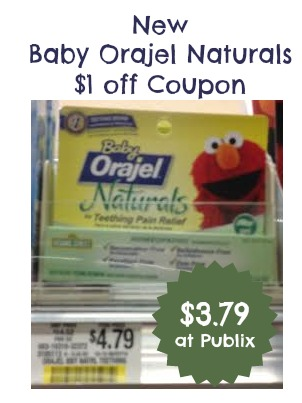 Baby Orajel Naturals Coupon and Publix Deal