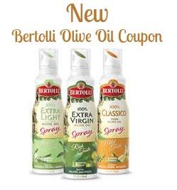 New Bertolli Olive Oil Spray Coupon