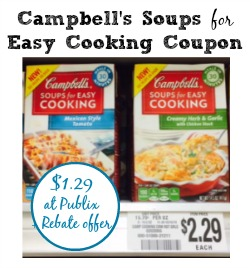 Campbell's Soups For Easy Cooking Coupon To Print To Match Rebate