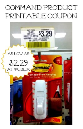 Command Product Coupon and Deal at Publix