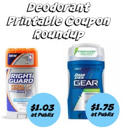 picture relating to Printable Deodorant Coupons named Deodorant Printable Discount codes and Publix Specials