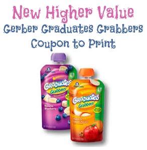 Higher Value Gerber Graduates Grabbers Coupon and Publix Deal *Last Day*