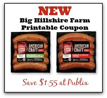 New Big Hillshire Farm Coupon To Print - Save $1.55