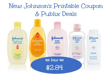 Johnson's Baby Product Coupon and Publix Deals - $2.84