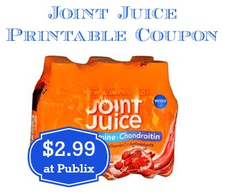Joint Juice Printable Coupon and Publix Deal