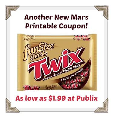 Another New Mars Coupon To Go With Publix Sale