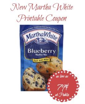 New Martha White Baking Mixes Coupon - Just 79¢ at Publix