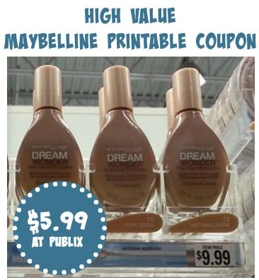 Maybelline Dream Wonder Coupon and Publix Deal