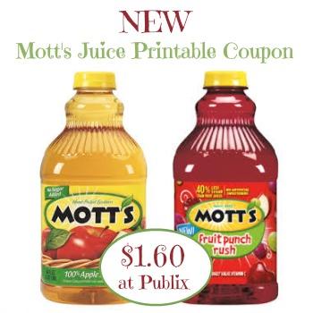 New Mott's Juice Coupon To Go With Our Publix Sale