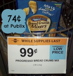 Progresso Bread Crumb Mixers Deal at Publix - As Low As 74¢