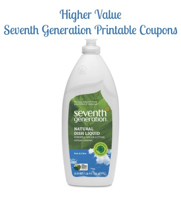 Higher Value Seventh Generation Coupons To Print