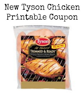 Tyson Chicken Printable Coupon For Savings On Meat